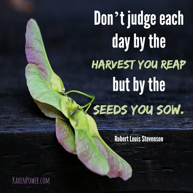Harvest You Reap-Seeds You Sow