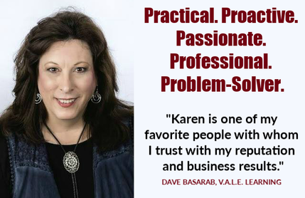 Karen R. Power, speaker trainer, virtual assistant, website developer, graphic designer